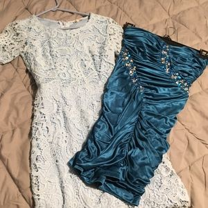 2 party dresses for one price. One new & one used.